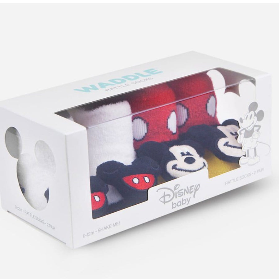 Classic Mickey Mouse Baby Rattle Socks