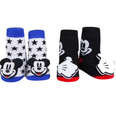 Mickey Mouse Baby Rattle Socks