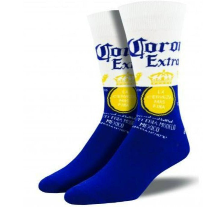 Corona Socks Men's Crew Sock Blue