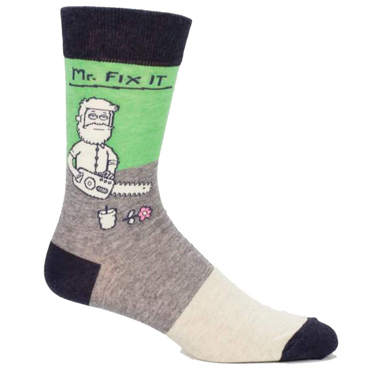 Mr. Fix It Socks Men's Crew Sock gray