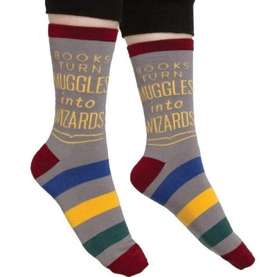 Books Turn Muggles Into Wizards Sock