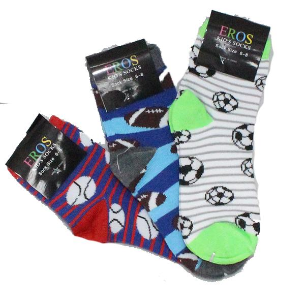 Children's Sports Sock 3 Pack Ages 4-7