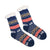 Sherpa Navy Winter Holiday Slipper Socks Non-Skid Slippers