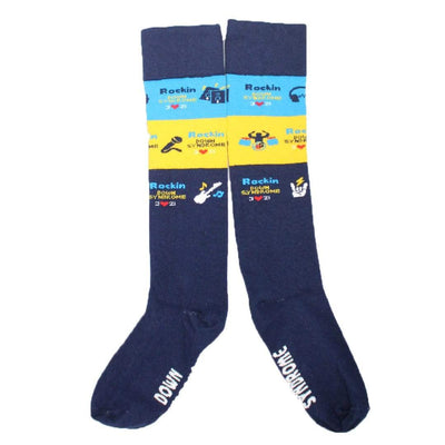 Navy Rockin Down Syndrome – Unisex Knee High Socks