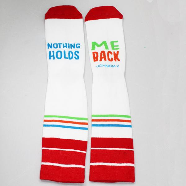 Johnism Nothing Holds Me Back Socks Unisex Crew Sock One Size Fits Most / Red