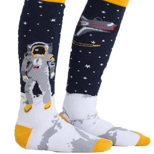 """One Small Step"" Junior Knee High Socks blue"