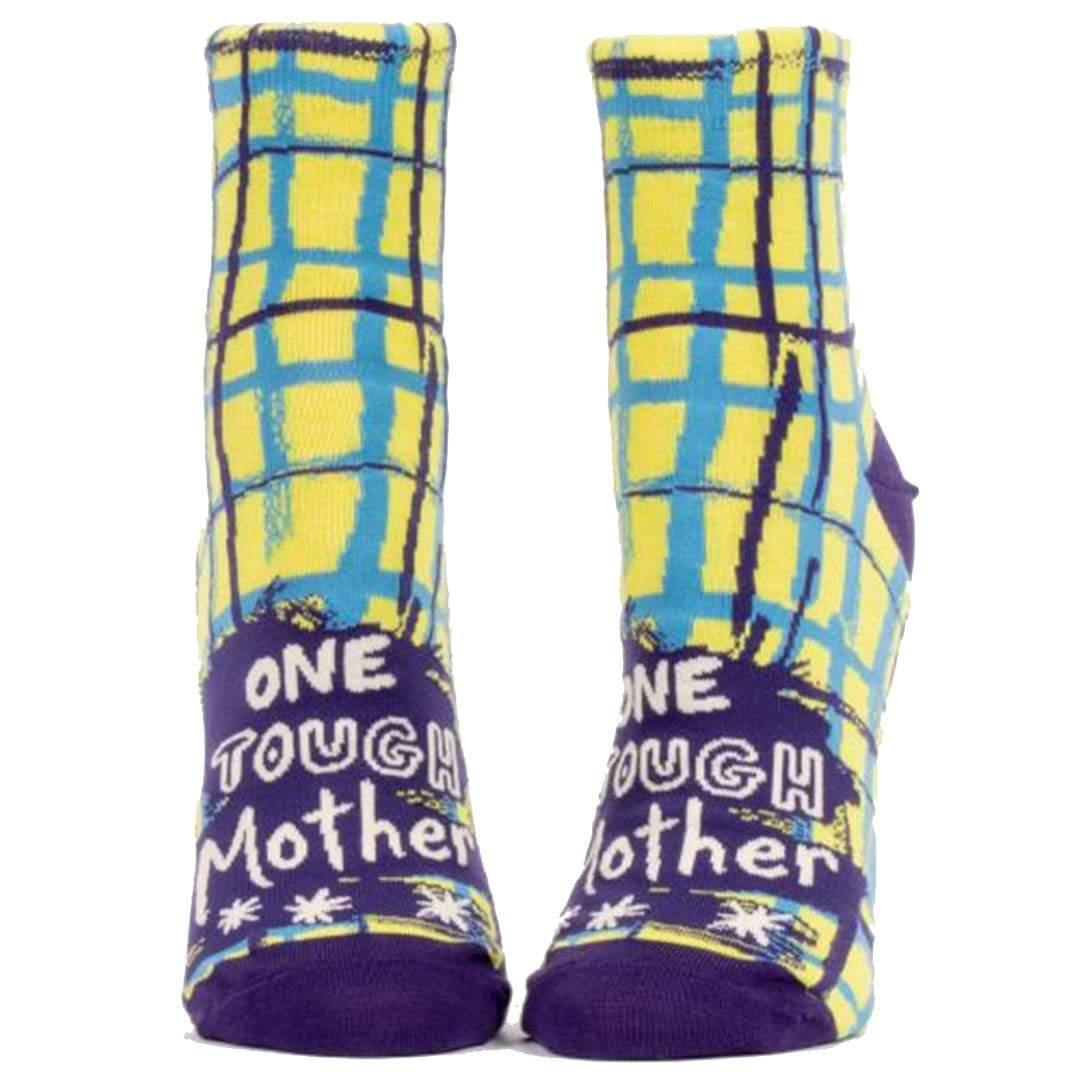 One Tough Mother Socks Women's Ankle Sock Yellow