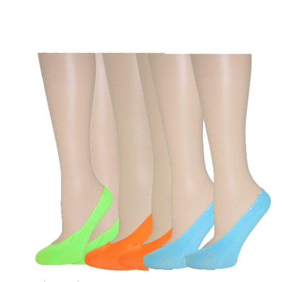 Neon Colorful Liner Socks Pack Women's No Show Sock
