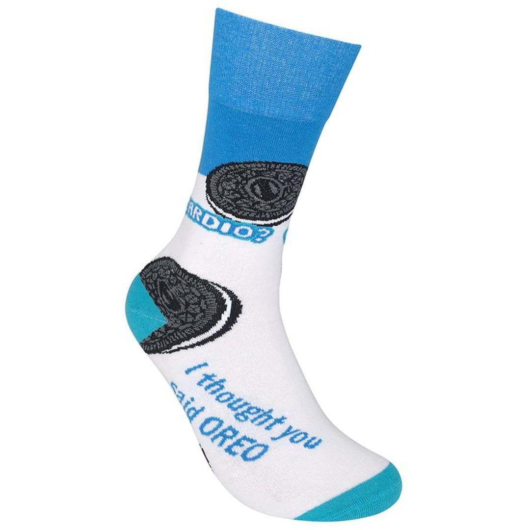 Cardio? I Thought You Said Oreo Socks Unisex Crew Sock white