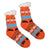 Sherpa Orange Winter Holiday Slipper Socks Non-Skid Slippers