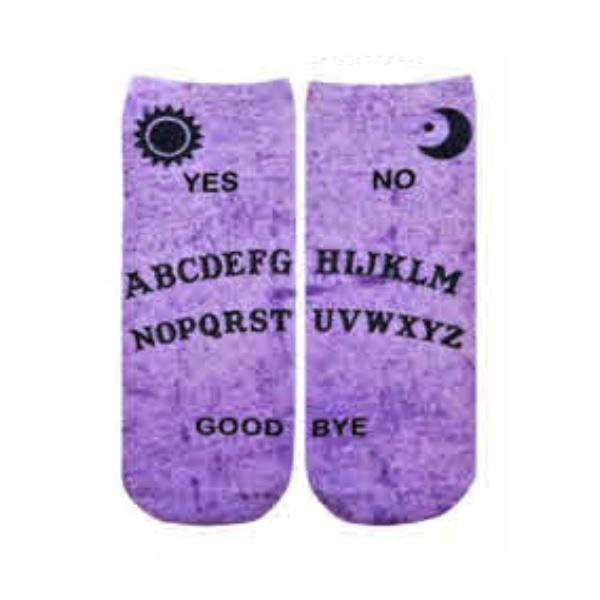 Ouija Board Ankle Socks Purple