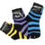 Children's Neon Striped Socks 3 Pack Ages 2-5 Blue/Yellow/Purple