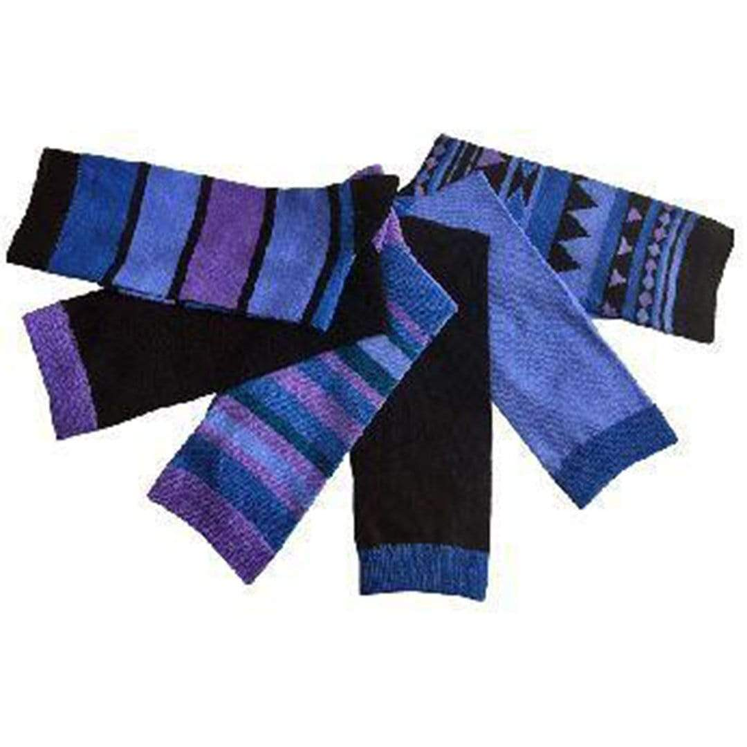 Periwinkle Tribal Striped Print Socks Women's 6 Pack