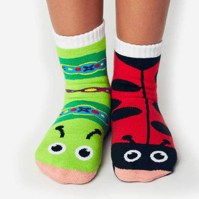 Ladybug & Caterpillar Mismatched Crew Socks for Children