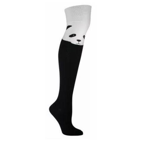 Panda Over the Knee Socks Women's Over The Knee Sock black