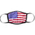 USA Flag Face Mask Red
