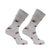 Patriotic Hat Sock Men's Crew Socks Grey