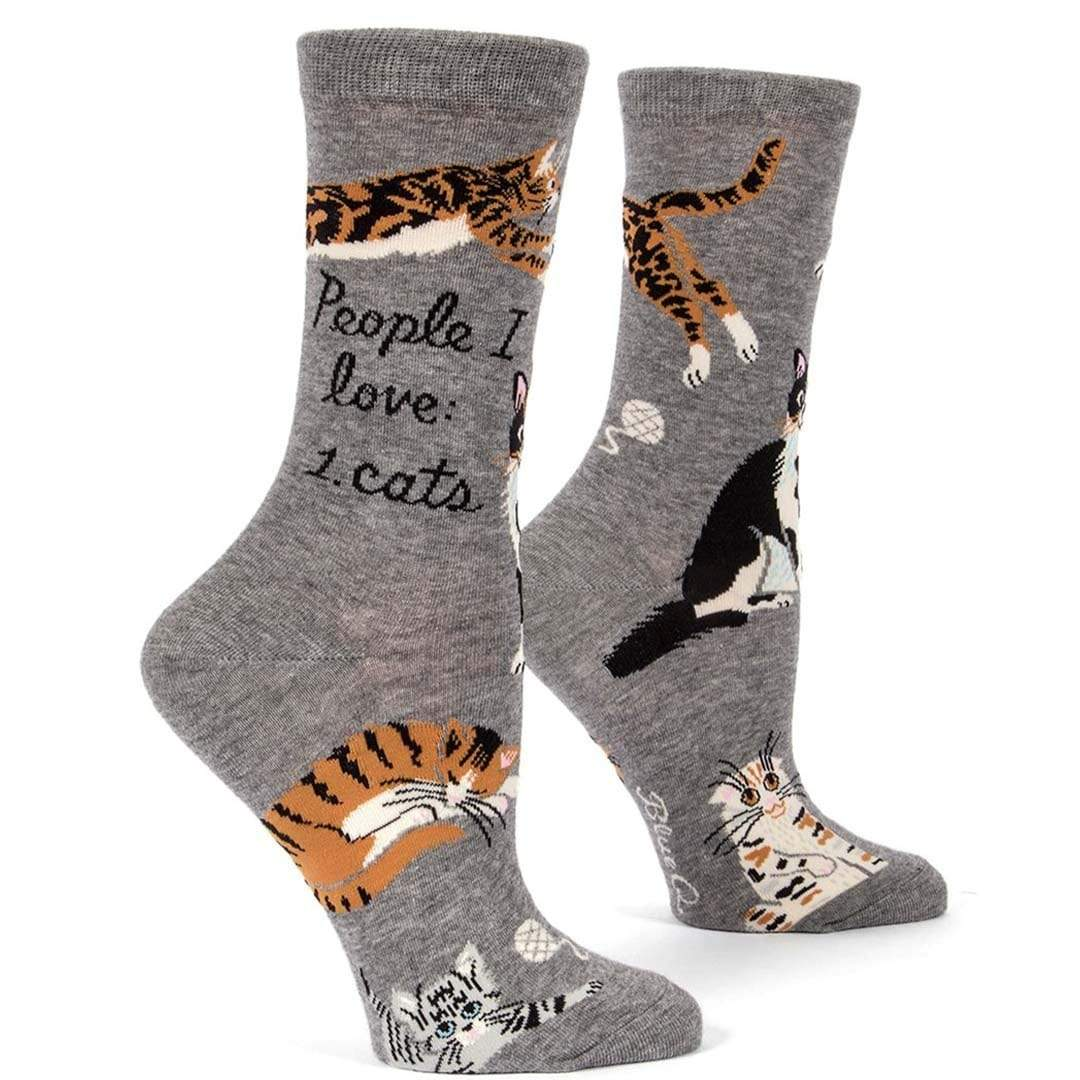 People I Love: Cats Women's Crew Socks Grey
