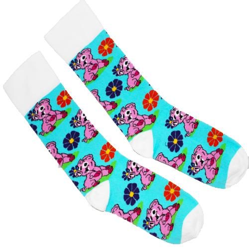 Pigs and Flowers Unisex Crew Socks