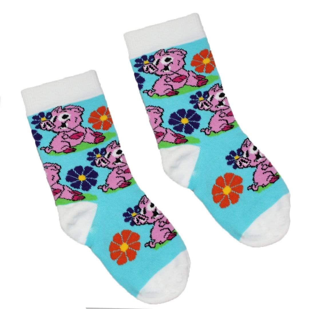 Pig Socks - Junior Crew Socks