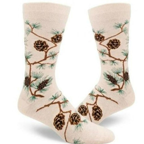 Pinecone Men's Crew Socks Cream
