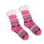 Sherpa Pink Winter Holiday Slipper Socks Non-Skid Slippers