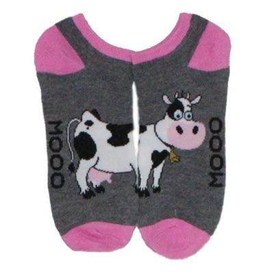 Cow Low Cut Socks Women's No Show Sock
