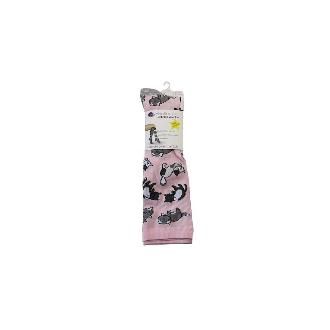 Pink Cat Compression Socks Knee High Sock