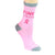 Breast Cancer Awareness Socks Women's Crew Sock Pink Strong / Pink
