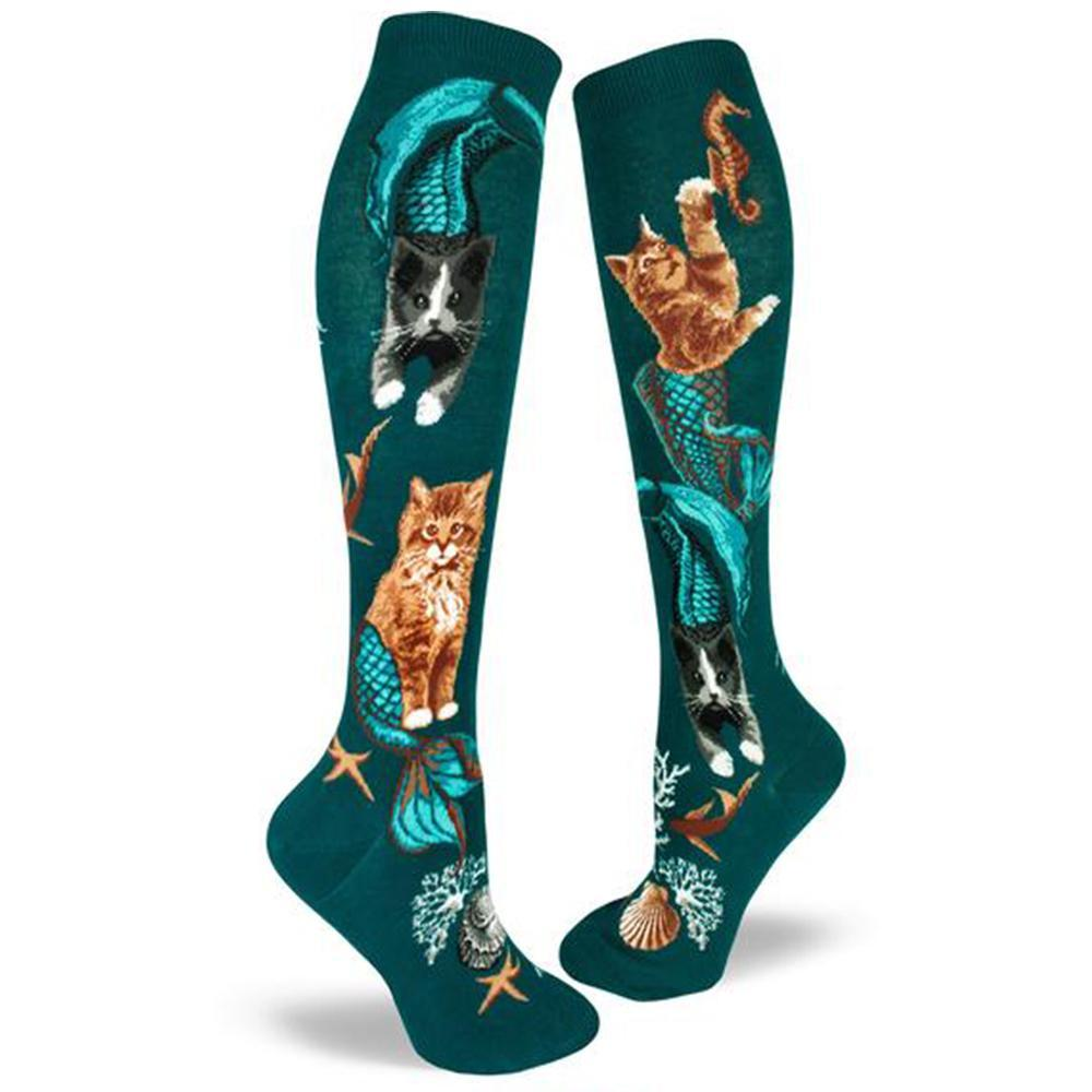 Purrmaid Socks Women's Knee High Sock green