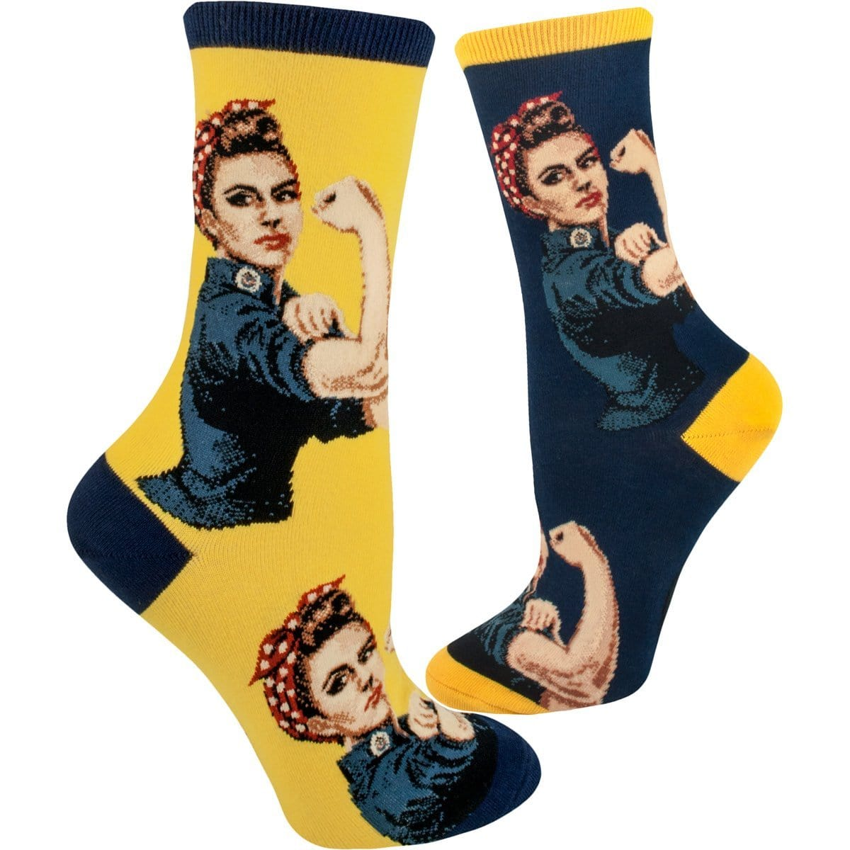 Rosie the Riveter Women's Crew Sock Navy