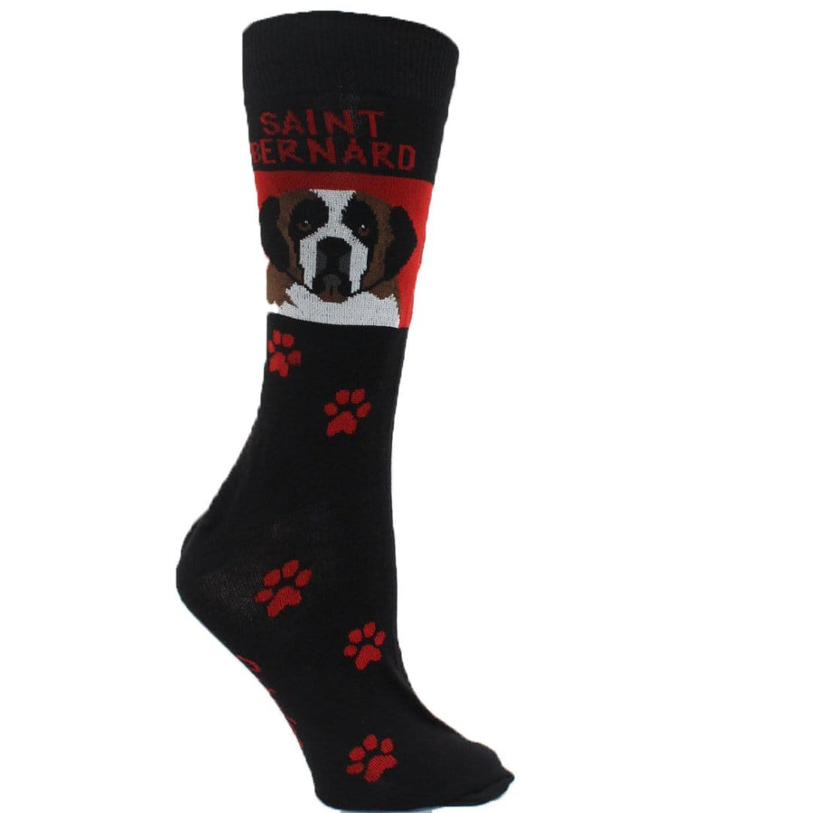 Saint Bernard Dog Crew Socks