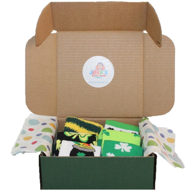 St. Patrick's Day Box of 6 Socks for Women - Gift Box
