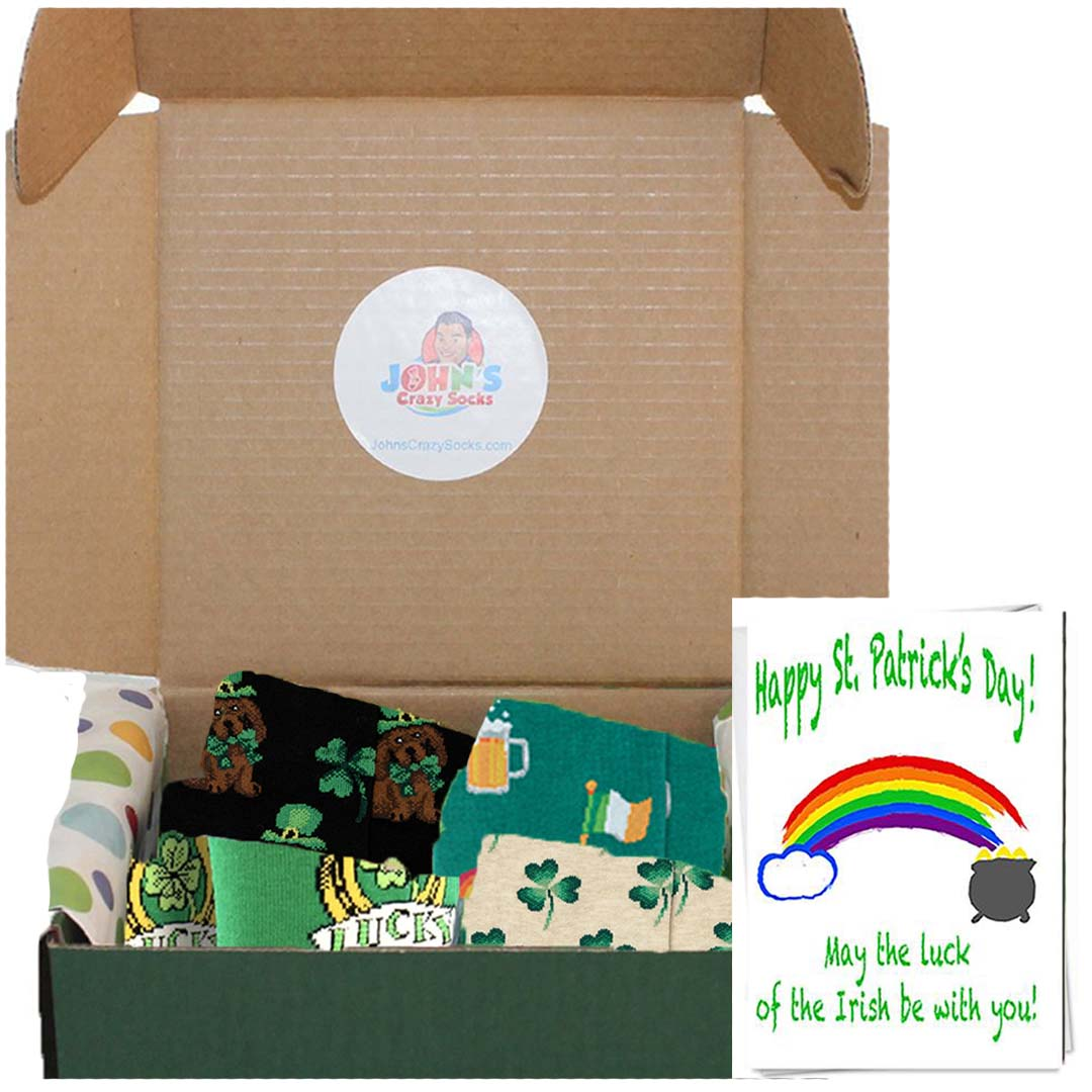 St. Patrick's Day Box of 4 pair Socks for Women - Gift Box