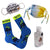 Stay Safe Mask and Sock Pack Blue / Yellow / Multi