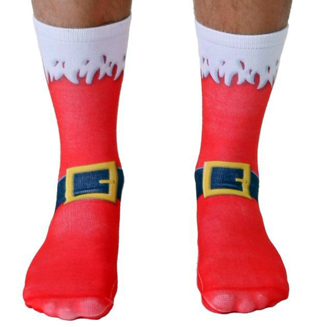 Santa Belt Christmas Socks  - Crew Sock