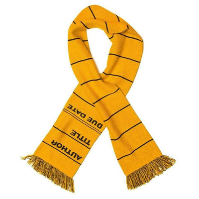 Library Card Scarf Yellow