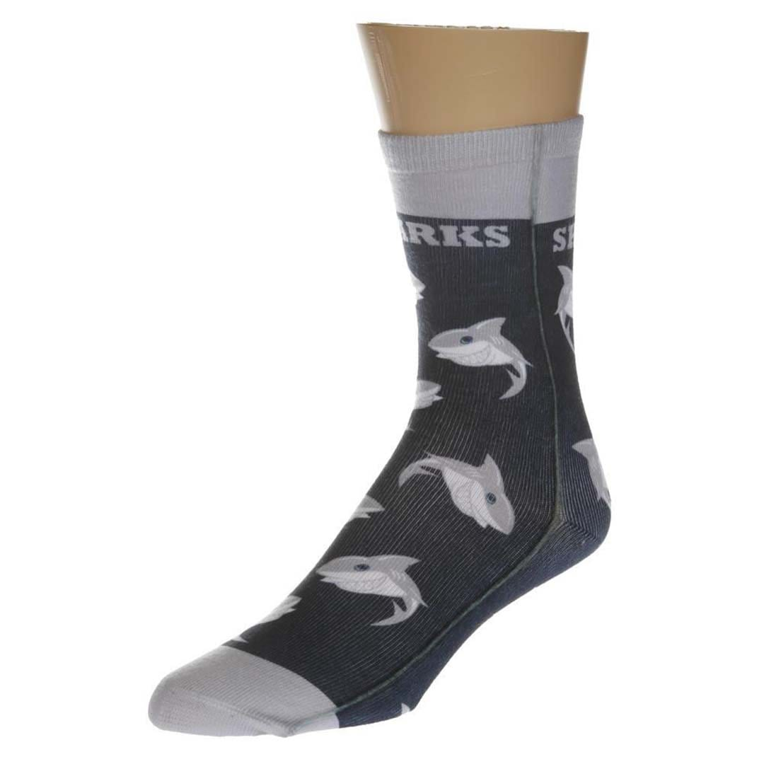 Shark Crew Socks Unisex Crew Sock One Size Fits Most / Grey