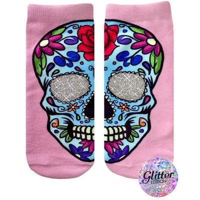 Sugar Skull Socks Ankle Sock Pink
