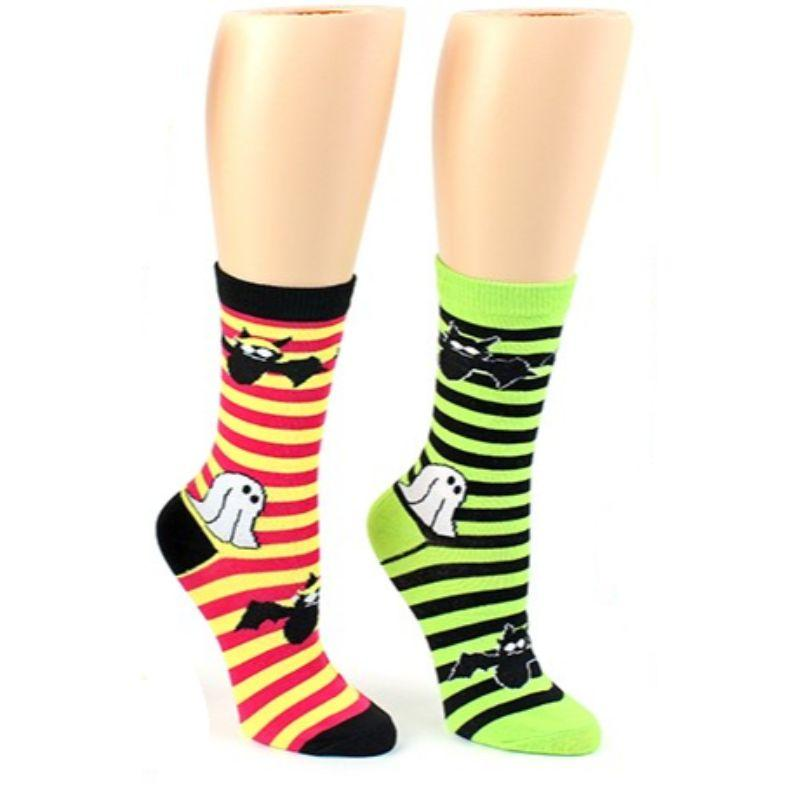 35666ff6a ghost and bat socks crew socks for women