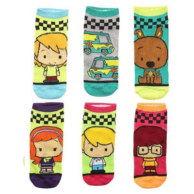 Scooby Doo 6 Pack Shortie Socks Teal