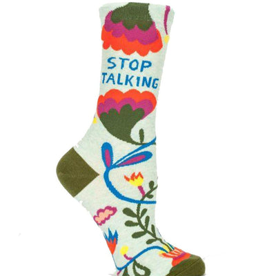 Stop Talking Socks Women's Crew Sock green