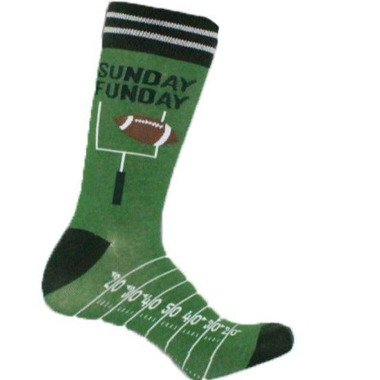 Sunday Funday Socks Crew Sock Green / Men's