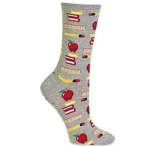 Teacher's Pet Socks Women's Crew Sock Grey
