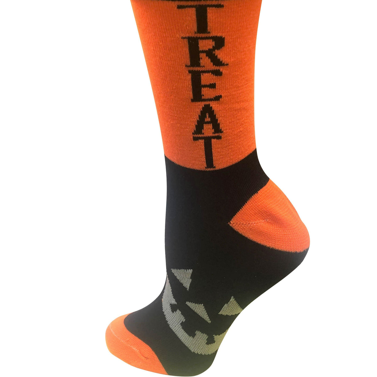 Trick or Treat Women's Crew Sock Orange