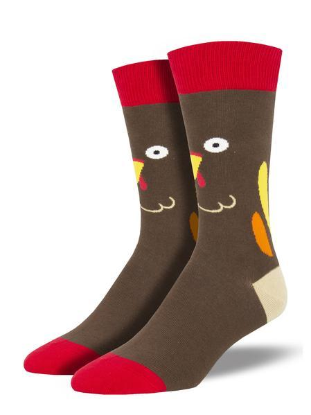 Turkey Face Men's Crew Sock