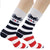 USA Stripes Sock Men's Crew Socks White