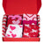 Valentine's Day 6 pack Crew Socks Gift Box Red / Pink