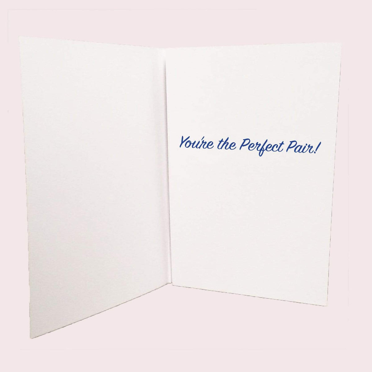 Bride and Bride Perfect Pair Greeting Card