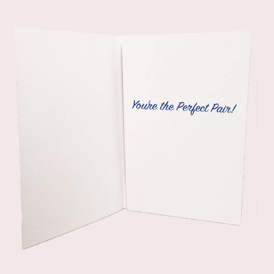 Bride and Bride Perfect Pair Card